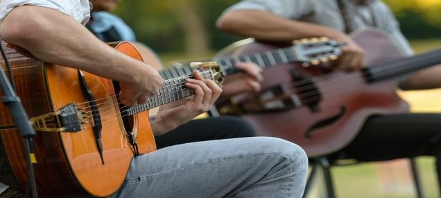 guitare, printemps